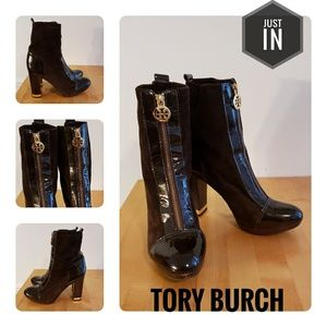 Tory Burch Brown Leather and Suede Boots Size 7.5M